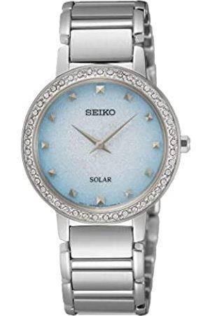 Seiko Damen Analog Quarz Uhr mit Metall Armband SUP447P1