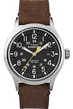 Timex Herren Quarz Uhr mit Leder Armband TWC004500