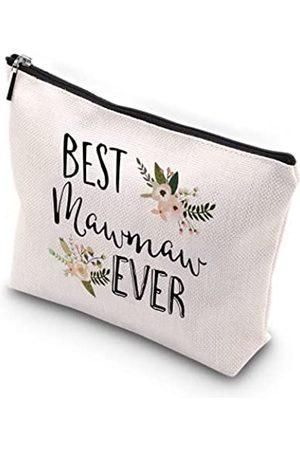 """WCGXKO Kulturbeutel mit Reißverschluss, wasserdicht, für die Reise, mit Aufschrift """"Best Mawmaw Ever"""", Geschenk für Großmutter"""