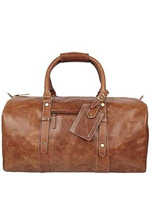 MONTOSU Herren Reisetaschen - Seesack aus Rindsleder, Reisetasche, faltbar, für Sport, Fitnessstudio