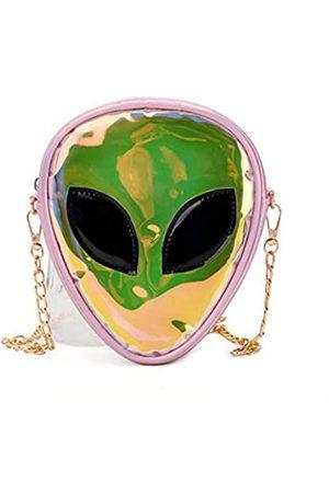 ZGMYC Alien-Muster Hologramm Umhängetasche mit Schulterriemen für Kinder, Teenager