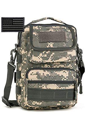 Protector Plus Taktische Kuriertasche für Herren, Militär-Stil, MOLLE-Schultertasche, mit Flicken, Herren