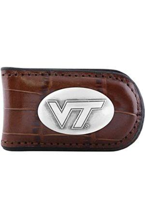 ZEP-PRO NCAA Virginia Tech Hokies Krokodilleder-Magnet Concho Geldklammer Hellbraun
