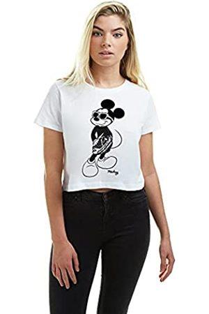 Disney Damen Mickey Cool Cropped Tee T-Shirt