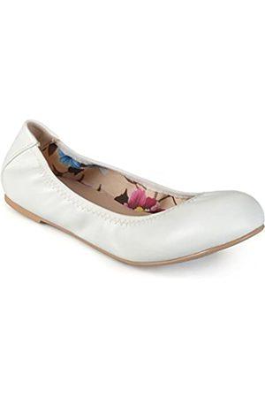 Journee Collection Flexible Scrunch Damen Ballerinas, Weiá