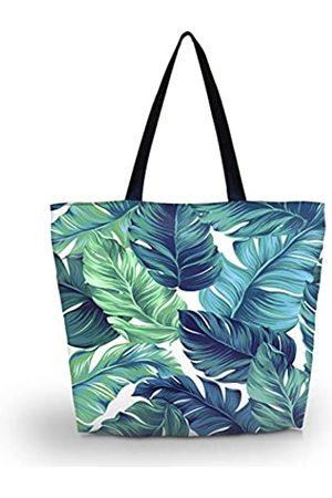 zadanle Einkaufstasche für Reisen, Strand, Einkaufstasche, mit Reißverschluss, für Damen, faltbar, wasserdicht