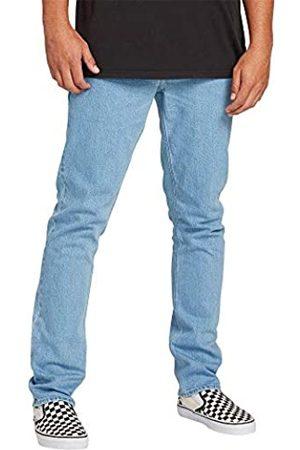 Volcom Men's Vorta Slim Fit Stretch Denim Jean, Thrifter Blue Light