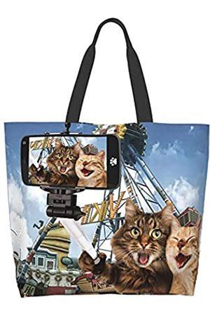 EZYES Canvas Tote Bag African American Shoulder Bags Black Girl Einkaufstasche, Schwarz (Farbe 6)