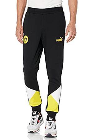 PUMA Herren BVB FTBLCULTURE Track Pants Trainingshose, Black-Cyber Yellow