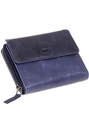 Mika 42169 - Damengeldbörse aus Echt Leder, Portemonnaie im Hochformat, Geldbeutel mit 9 Kartenfächer, 5 Einsteckfächer, Scheinfach und 2 Münzfächer, Brieftasche in, ca. 13 x 10 x 2