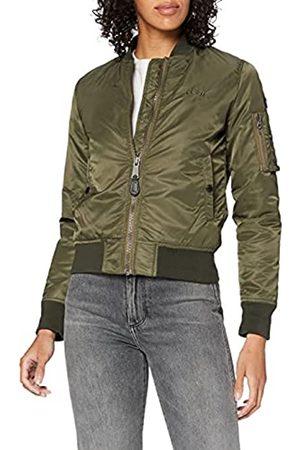 Schott NYC Damen Jacke Airforce1W Ladies Bomber Jacket, (Army Khaki)