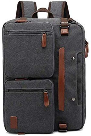 PD Umwandelbarer Reise-Laptop-Rucksack, Schultertasche, Kuriertasche, Aktentasche für Herren (17.3