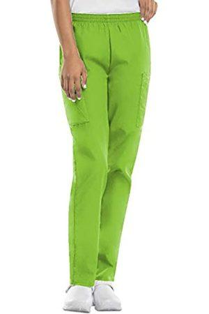 Cherokee Women's Workwear Elastic Waist Cargo Scrubs Pant, Lime Green