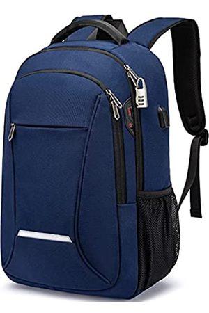 XQXA Laptop-Rucksack, Reise- und Schulrucksack für Damen und Herren mit USB-Ladeanschluss, wasserabweisend, Anti-Diebstahl-College-Rucksack, Computer-Rucksack, passend für bis zu 43