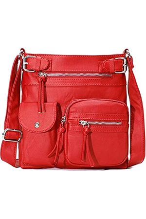 Formva Crossbody Tasche für Frauen Casual PU Leder Schultertasche Messenger Bag Leichte Reise Geldbörsen und Handtaschen mit Multi Taschen