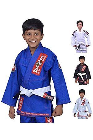 TWISTER Kids Jiu Jitsu Gi Ultra Light Youth Gi with Gi Bag & White Belt Included (Blue/Red