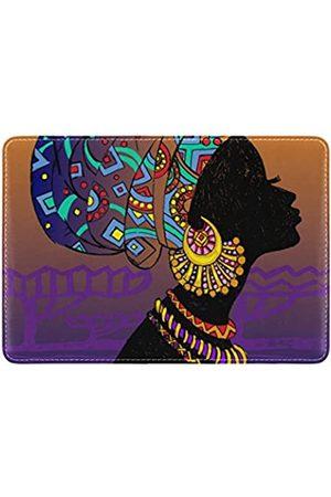 alaza Cooper Girl Tribe Afrikanische Frau Reisepasshülle aus Leder für Männer und Frauen