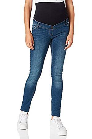 Love2wait Damen Cropped - Damen Umstands Jeans, - Blue Stonewash