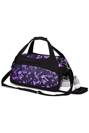 Kuston Unisex - Erwachsene sport turnbeutel mit wet-taschen und schuhe compartment reise seesack einheitsgröße lila