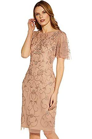 Adrianna Papell Damen Beaded MESH Sheath Dress Kleid