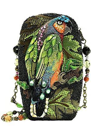 MARY FRANCES Chatterbox Handtasche mit Perlen, Papageien-Motiv