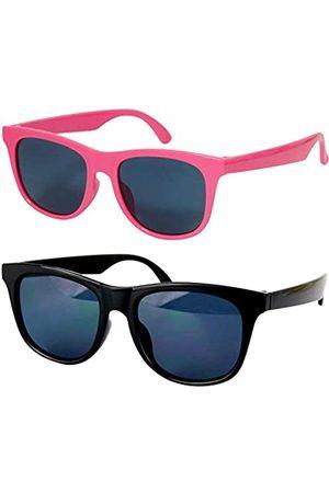 Style Vault Kd3006 Baby-Sonnenbrille, Alter 0–24 Monate, Retro-Stil, 80er Jahre, Pink (2 Stück und Hot Pink)