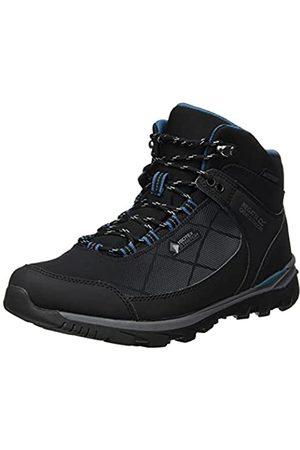 Regatta Damen LdyHightonSTR Mid Walking Shoe, Black/SeaBlu
