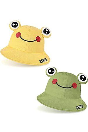 Syhood 2 Stücke Kinder Süß Frosch Eimer Hüte Breite Krempe Sonnenhut Sommer Strandhut
