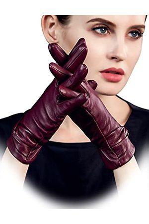 """YISEVEN Damen Lederhandschuhe Gefüttert Touchscreen Winter Smartphone Autofahren Handschuhe Leder Damenhandschuhe Elegant Schaffell Winterhandschuhe Frauen Autohandschuhe Geschenk Mittel/7.0"""""""