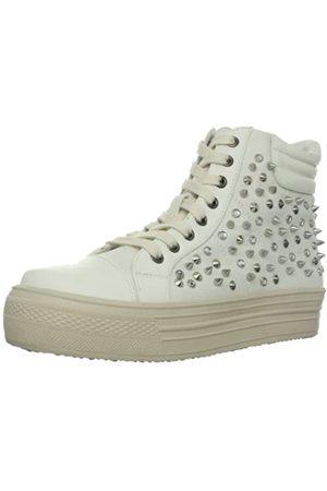 Mia Damen Gold Rush Fashion Sneaker, Wei (weißes Leinen)