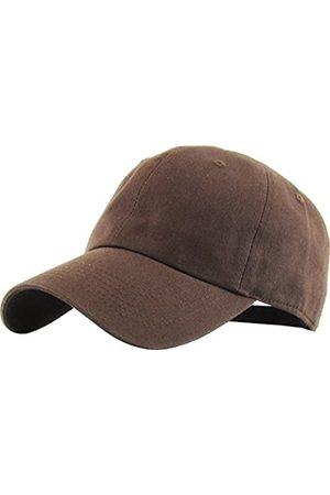 KBETHOS KB-LOW BRN Classic Baumwoll-Papa Hut Einstellbare Plain Cap. Polo Style Low Profile (unstrukturiert) (klassisch) Einstellbar