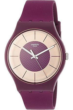 Swatch Damen Uhren - DamenAnalogQuarzUhrmitSilikonArmbandSUOR110