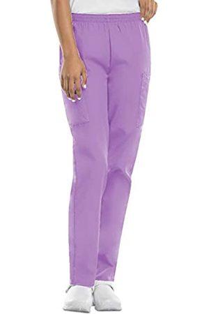 Cherokee Damen-Cargo-Peelinghose mit elastischer Taille - Violett - X-Klein