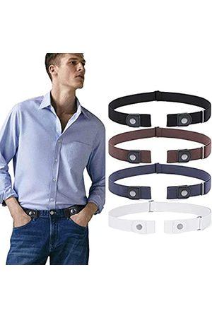 WERFORU Herren Stretch - Herren-Gürtel ohne Schnalle, Stretch-Gürtel für Jeans, Hosen, 3,5 cm breit