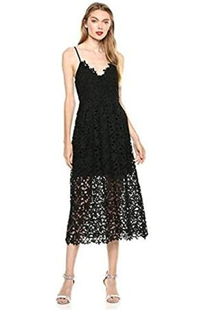 ASTR Damen Sleeveless Lace Fit & Flare Midi Dress Kleid
