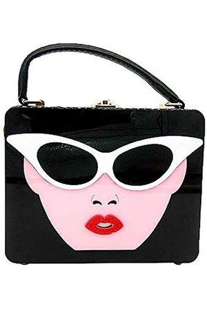 Boutique De FGG Acryl-Umhängetasche für Damen, Handtasche und Handtaschen, Clutch, Crossbody-Tasche, Pink ( und )