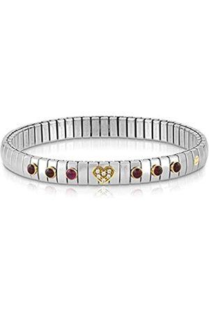 Nomination Damen-Armband Edelstahl Zirkonia weiß Granat 21 cm - 044612/014