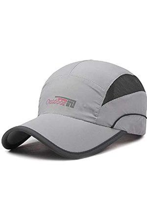 WeiMi Damen Sport BHs - Baseball Cap Quick Dry Cap Leichte Laufmützen Outdoor Luftig Verstellbar Sport Sonnenhut UV Schutz Hut für Männer Frauen - Grau - large