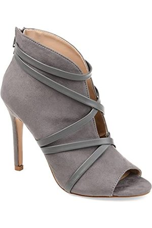 Journee Collection Damen Stiefeletten - Samara Damen-Stiefelette, offener Zehenbereich