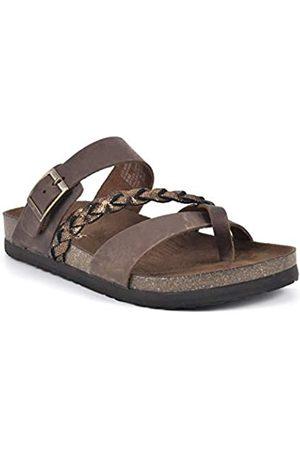 WHITE MOUNTAIN Damen Hazy Flache Sandale, /Bronze/mehrfarbig