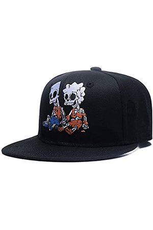 Quanhaigou Baseballkappe mit Totenkopf-Motiv, verstellbar