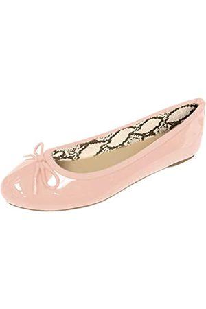 Gold Toe Damen-Ballerinas mit Schleife, gepolsterte Einlegesohlen, einfaches An- und Ausziehen, (blush)