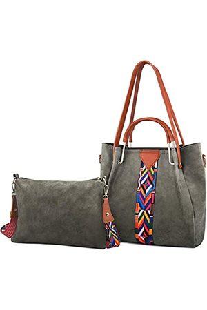 Ufemet Damen Handtaschen - Modische Handtasche und tragbare Geldbörse für Damen, farbiger Schultergurt, PU-Leder, Kuriertasche