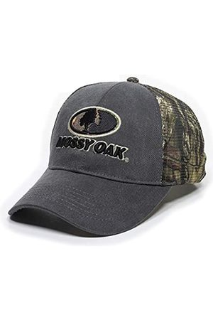 Outdoor Cap Mossy Oak Camo Stoff Patch Stretch Fit Mesh Back Cap für Damen & Herren - Grau - L/XL