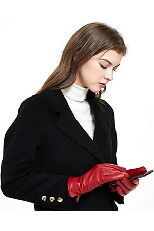 ZLUXURQ Handschuhe Damen Weiche Lammfell Leder Touchscreen und mit Kaschmir gefüttert Winter handschuhe