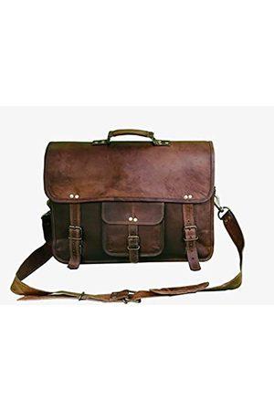Handmadeleathercraft Handgefertigte Vintage Leder Messenger Bag Laptop Aktentasche für Herren