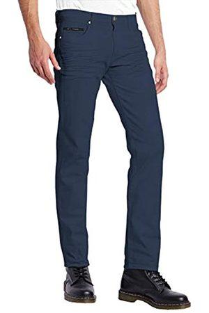 ETHANOL Herren Slim Hyper Stretch Motion Denim Jeans mit kurzen und hohen Innennähten - Blau - 34W / 32L