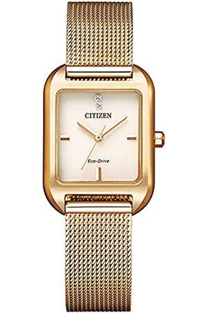 Citizen Damen Analog Japanischer Quarz Uhr mit Edelstahl Armband EM0493-85P