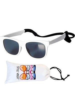 Style Vault Kd211 Hipster-Sonnenbrille für Babys und Kleinkinder im Alter von 0–24 Monaten im 80er-Jahre-Stil, ( mit Riemen)