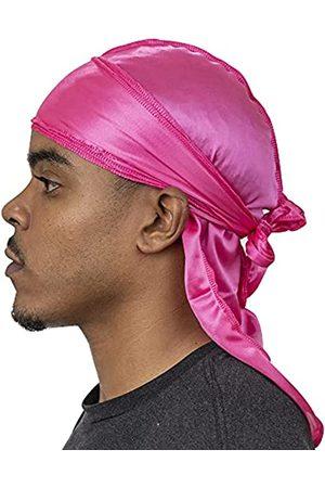 Veeta Hochwertiger seidiger Durag (mehrere Farben) – glatter Seidenstoff | maximale Kompression und Komfort - Pink - Einheitsgröße